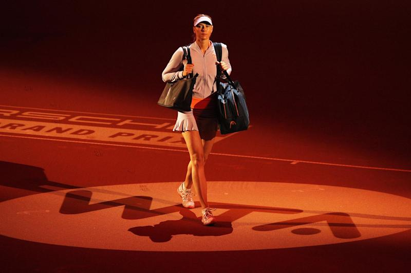 Back in the spotlight: Sharapova received a mixed welcome in Stuttgart: Bongarts/Getty Images