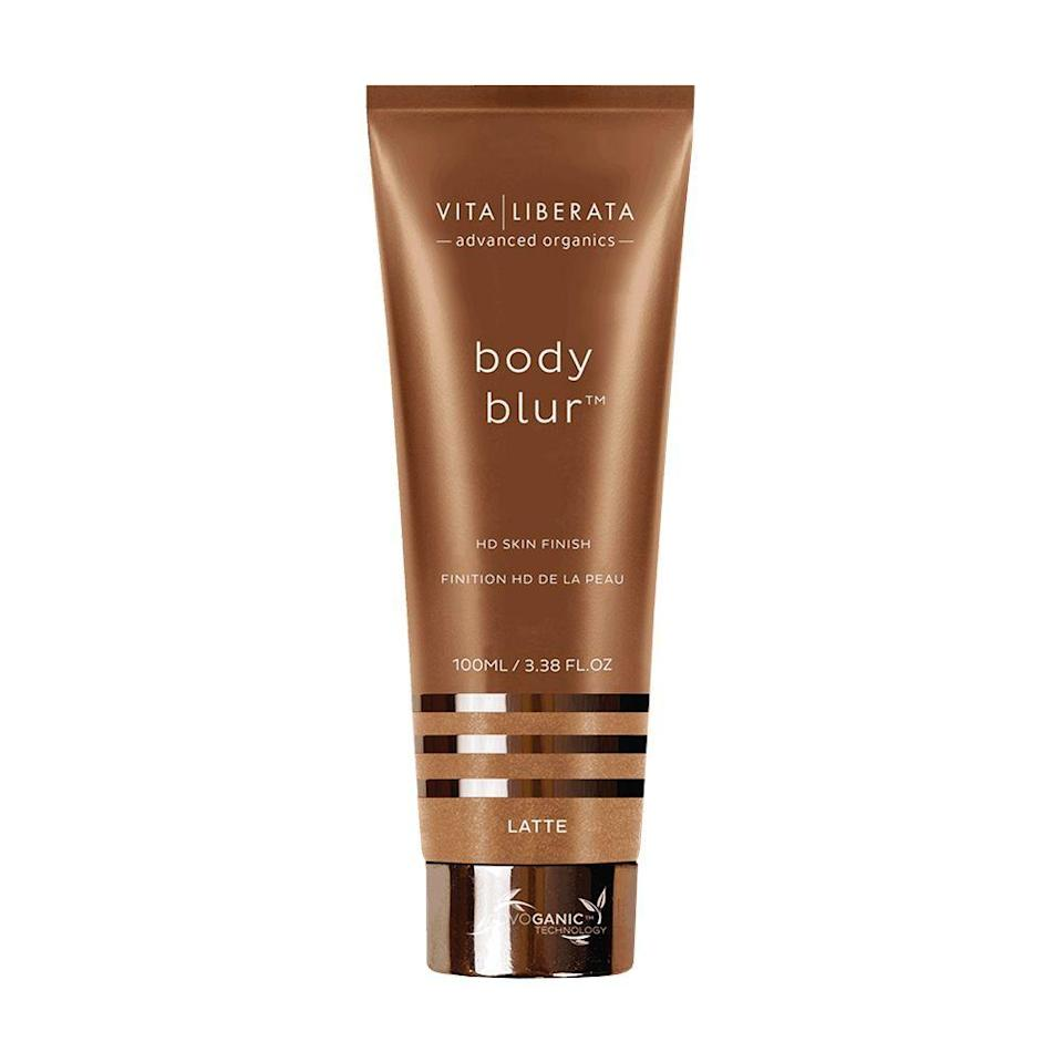 """<p><strong>Vita Liberata</strong></p><p>amazon.com</p><p><strong>$38.95</strong></p><p><a href=""""https://www.amazon.com/dp/B01H353A74?tag=syn-yahoo-20&ascsubtag=%5Bartid%7C2089.g.30744763%5Bsrc%7Cyahoo-us"""" rel=""""nofollow noopener"""" target=""""_blank"""" data-ylk=""""slk:Shop Now"""" class=""""link rapid-noclick-resp"""">Shop Now</a></p><p>Vita Liberata's luxurious leg makeup offers blurring action to make your skin look perfect in an instant. It acts as an all-over BB cream and is formulated with nourishing ingredients that are also safe to use on your face.</p>"""