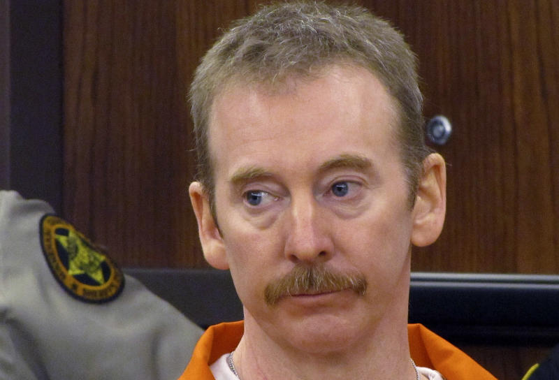 FILE - In this Oct. 14, 2011, file photo Eric Robert appears in a Sioux Falls, S.D. court. Robert is scheduled to be executed by lethal injection Monday, Oct. 15, 2012, South Dakota's first execution in five years. Robert pleaded guilty in the April 12, 2011, slaying of a prison guard during a failed escape attempt and asked to be put to death, saying he would kill again. (AP Photo/Argus Leader, Emily Spartz, File)
