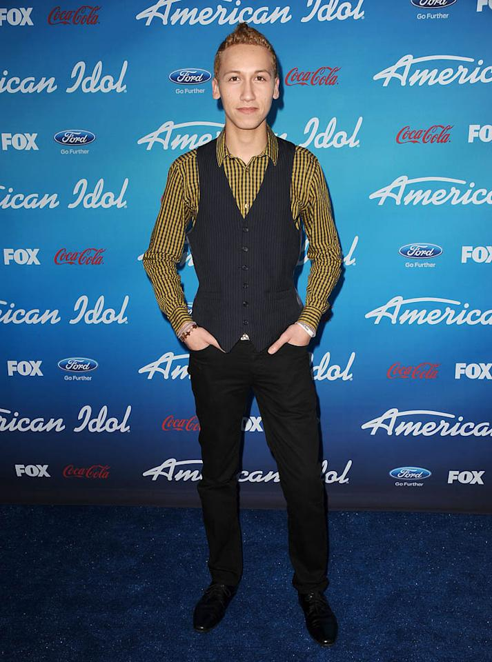 """Devin Velez attends the FOX """"American Idol"""" finalists party at The Grove on March 7, 2013 in Los Angeles, California."""
