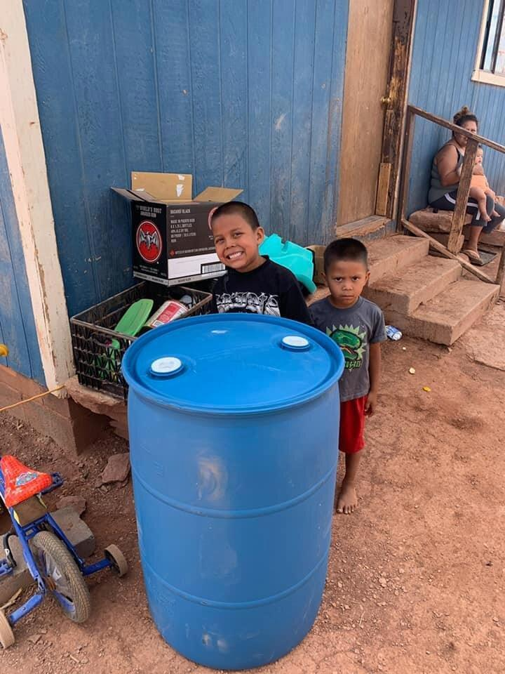 """Water Warriors United delivers clean water to families in the Navajo Nation.<span class=""""copyright"""">Courtesy Zoel Zohnnie —Water Warriors United/Pandemic of Love</span>"""