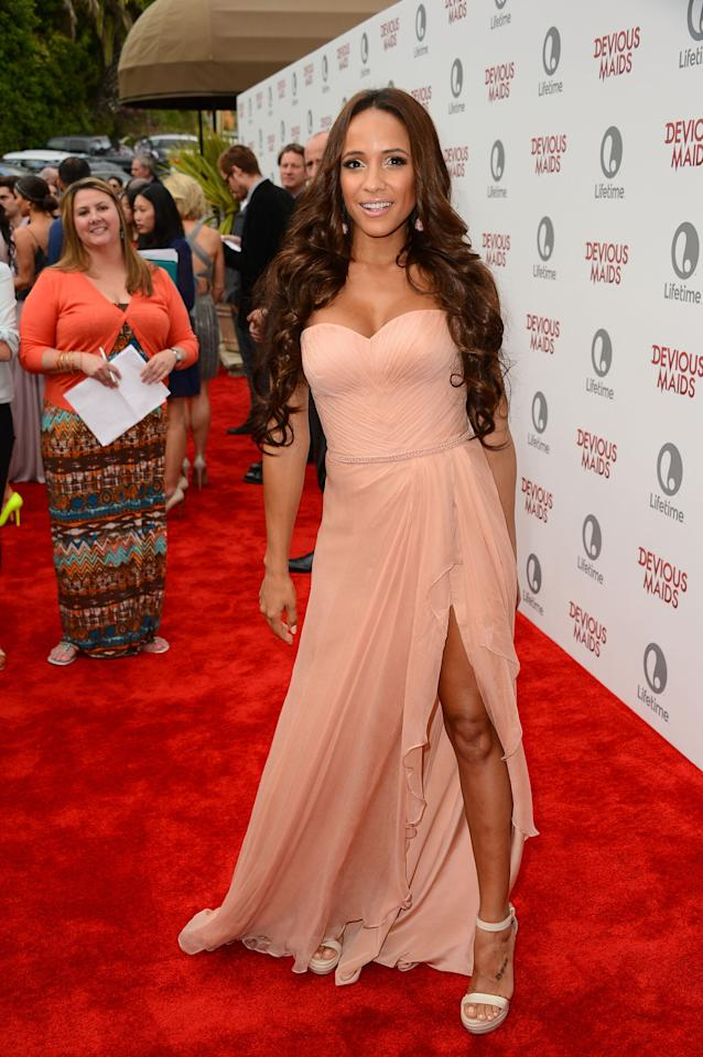 PACIFIC PALISADES, CA - JUNE 17: Actress Dania Ramirez attends the premiere of Lifetime Original Series 'Devious Maids' at Bel-Air Bay Club on June 17, 2013 in Pacific Palisades, California. (Photo by Mark Davis/Getty Images)