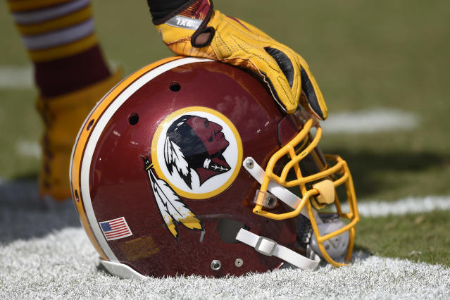 One Maryland school has asked students to stop wearing apparel with the Washington Redskins logo and team name. (AP)