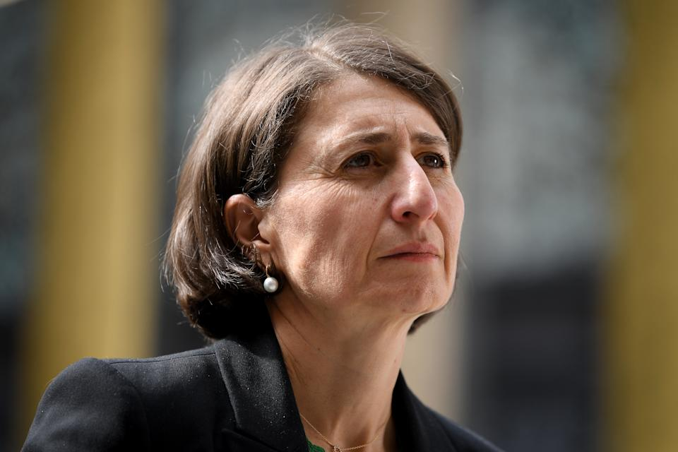 NSW Premier Gladys Berejiklian has warned the state it should expect further cases in the community. Source: AAP