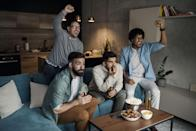 <p>Get your adrenaline pumping by watching a sports game. If your sport of choice isn't playing right now, find something new to get into on TV or YouTube. Think outside of the box with offbeat contests like squash, cornhole or even competitive trampolining.</p>