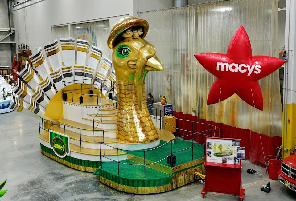Jennie-O's float for the 94th annual Macy's Thanksgiving Day Parade was designed at the Macy's Parade Studio in Moonachie, Bergen County, New Jersey.