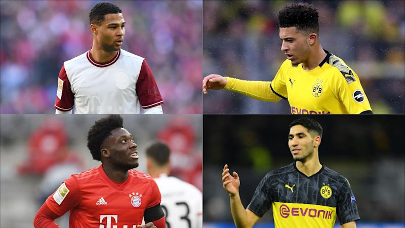 Dortmund v Bayern: Hakimi and Sancho, Davies and Gnabry - Europe's most exciting wing partnerships