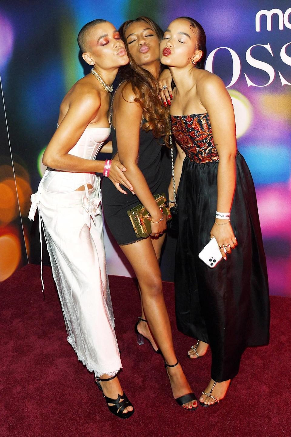 <p>Jordan Alexander, Savannah Smith and Whitney Peak share a smooch ahead of the N.Y.C. premiere of Warner Bros. Television's <em>Gossip Girl</em>, which debuts on July 8 on HBO Max.</p>