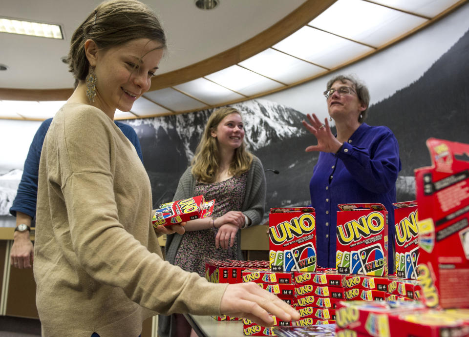 As part of an April Fools' promotion, the city of Juneau in Alaska and Mattel announced a renaming of Juneau to UNO. (Credit: Michael Penn/AP Images for Mattel)