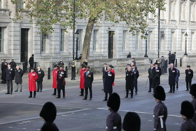 The Remembrance Sunday service at the Cenotaph, in Whitehall, London