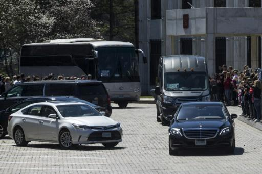 <p>Russia diplomats, families, leave US embassy</p>