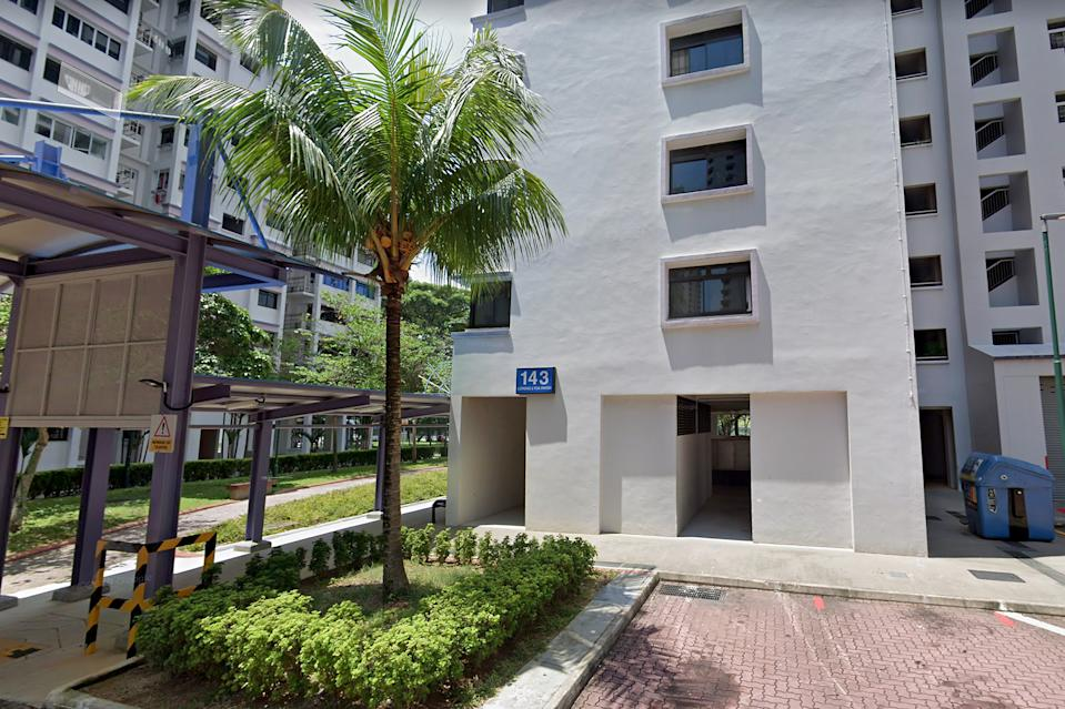 The girls' bodies were found at the foot of Block 143 Lorong 2 Toa Payoh. (PHOTO: Google Street View screengrab)