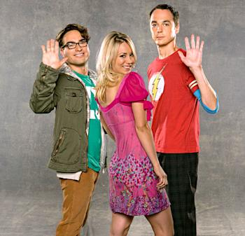 Johnny Galecki, Kaley Cuoco, and Jim Parsons