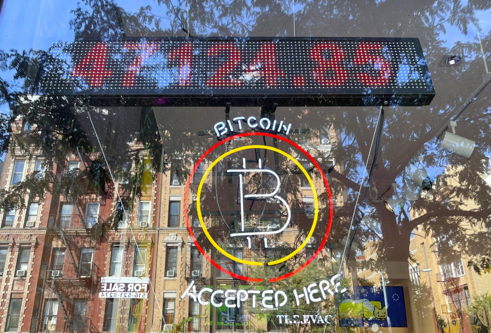 Bitcoin's flash crash comes amid brutal sell-off in global markets. Photo: AP