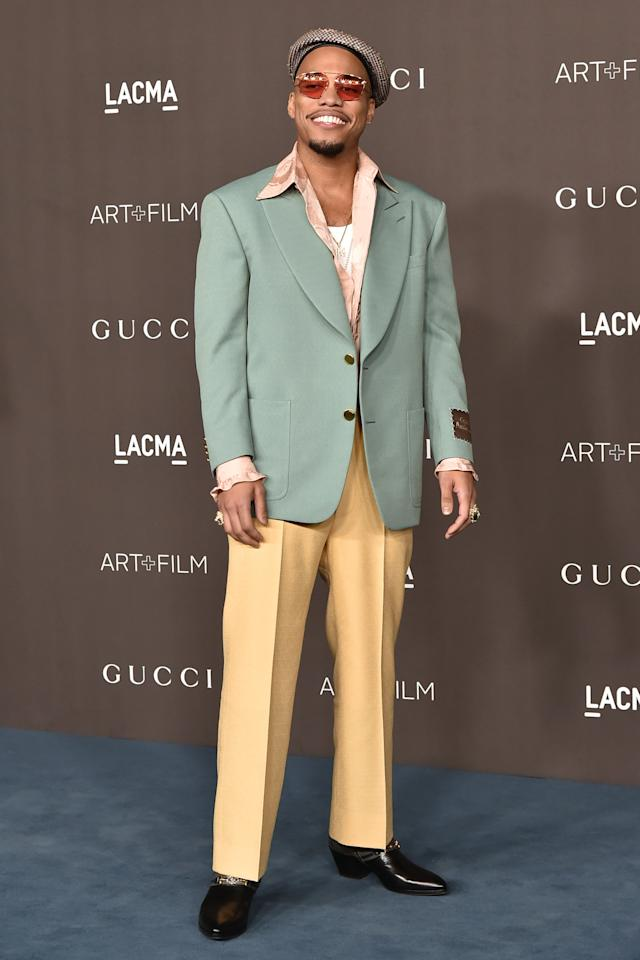 <p>WHAT: Gucci</p> <p>WHERE: The LACMA Art + Film Gala</p> <p>WHEN: November 2, 2019</p> <p>WHY: Wide-silhouette suiting and an equally wide grin is a recipe for greatness.</p>