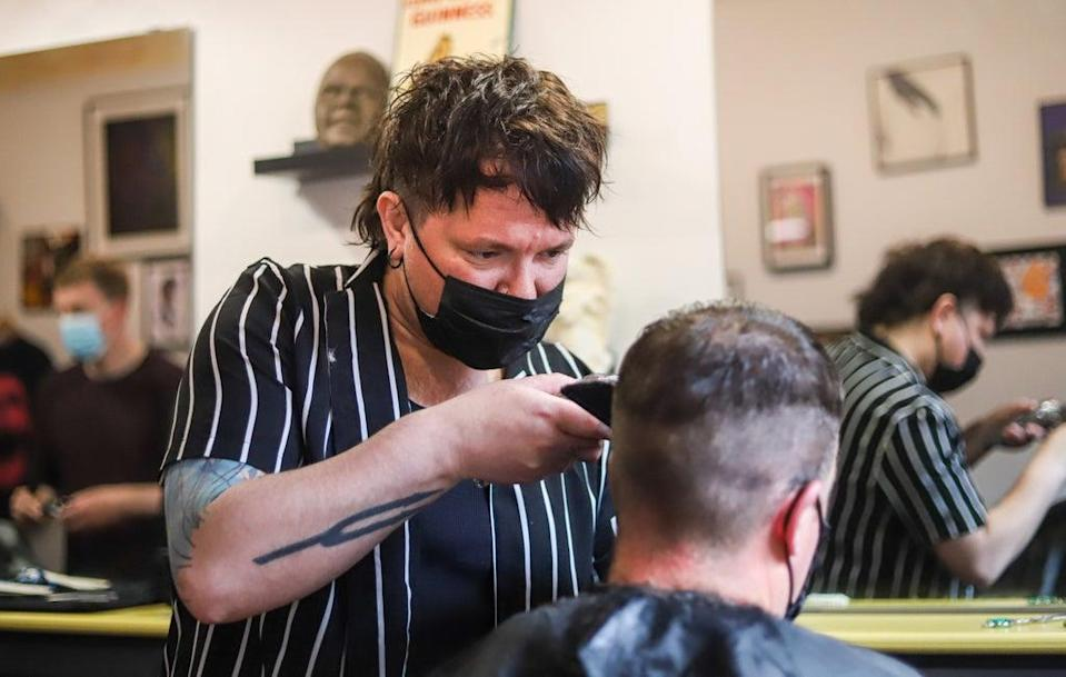Hairdressers and other consumer service businesses might see headcount fall in the next few months (Damien Storan/PA) (PA Wire)