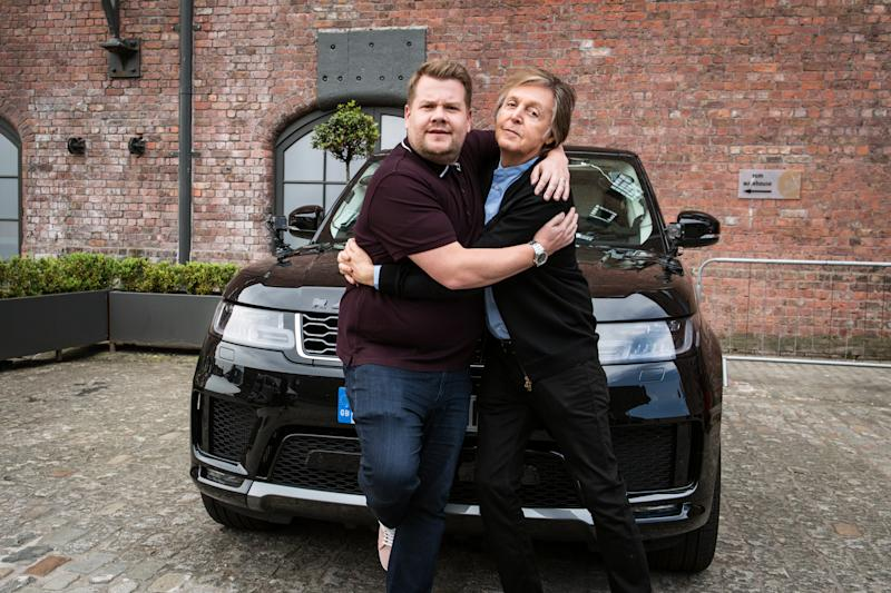 LOS ANGELES - JUNE 9: Carpool Karaoke in London with Paul McCartney, scheduled to air on THE LATE LATE SHOW WITH JAMES CORDEN (Photo by Craig Sugden/CBS via Getty Images)
