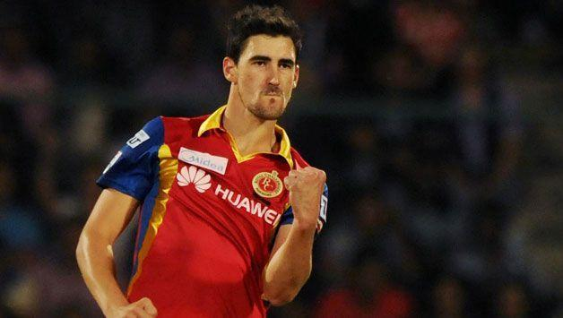 Mitchell Starc in action for RCB