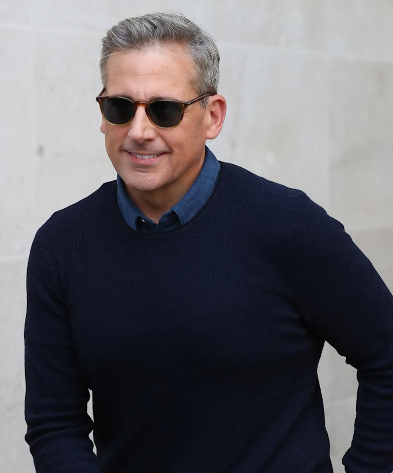 "<p><em>The Office</em> alum, 54, showed his true color while promoting <em>Despicable Me 3</em> in London on June 21, and the Internet went crazy over the new 'do. (Crazy in a good way.) Of course the comedic actor had a humorous take on it all, telling <a rel=""nofollow"" href=""https://www.yahoo.com/celebrity/exclusive-steve-carell-hilariously-reacts-173000874.html""><em>Entertainment Tonight</em></a>, ""I am so sick of people just looking at me for my physical attributes."" Carell, who has been married to wife Nancy since 1995, added, ""It's just genetic. There's nothing I can do."" (Photo: Neil Mockford/GC Images) </p>"