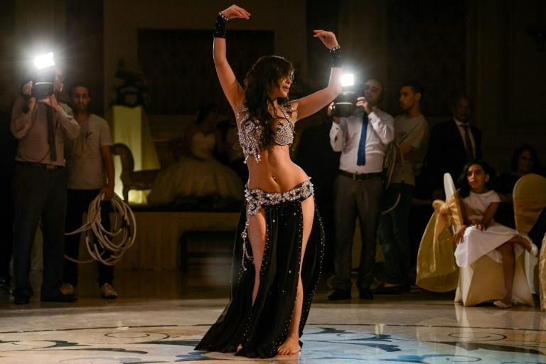 Moroccan belly dancer Maya Dbaich in 2014 -- Egypt has seen its community of homegrown belly dancers shrink