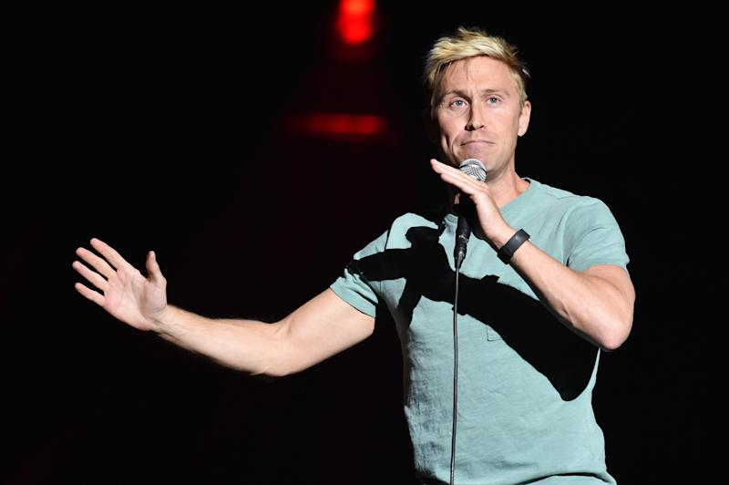 Russell Howard on stage during the comedy night of the Teenage Cancer Trust annual concert series, at the Royal Albert Hall in London. Picture date: Tuesday March 20th, 2018. Photo credit should read: Matt Crossick/ EMPICS Entertainment.