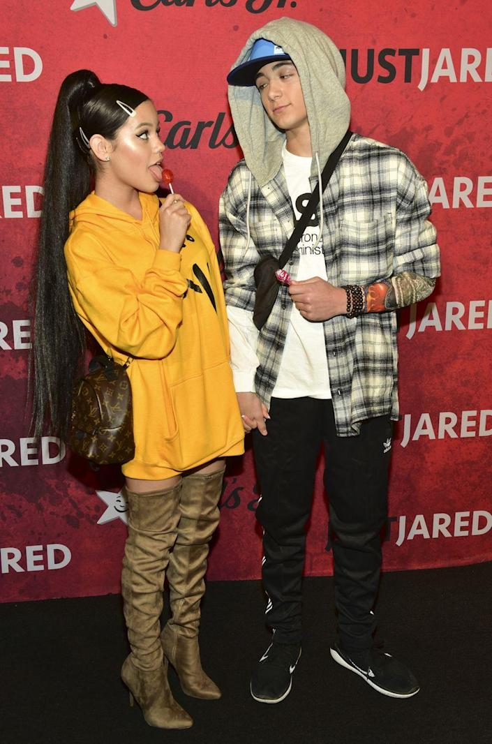 """<p>They may no longer be a couple, but Ariana Grande and Pete Davidson's iconic paparazzi shot following their engagement news in 2018 still makes the perfect couples costume. </p><p><a class=""""link rapid-noclick-resp"""" href=""""https://www.amazon.com/Women-Pullover-Sweater-Tops-Sweatshirt/dp/B07KW99RH1?tag=syn-yahoo-20&ascsubtag=%5Bartid%7C10070.g.1923%5Bsrc%7Cyahoo-us"""" rel=""""nofollow noopener"""" target=""""_blank"""" data-ylk=""""slk:SHOP YELLOW SWEATSHIRT"""">SHOP YELLOW SWEATSHIRT</a></p><p><a class=""""link rapid-noclick-resp"""" href=""""https://www.amazon.com/Seidarise-Sweatshirt-Flannel-Lightweight-Ac1-White/dp/B08MZMQ6MF?tag=syn-yahoo-20&ascsubtag=%5Bartid%7C10070.g.1923%5Bsrc%7Cyahoo-us"""" rel=""""nofollow noopener"""" target=""""_blank"""" data-ylk=""""slk:SHOP PLAID HOODIE"""">SHOP PLAID HOODIE</a></p>"""