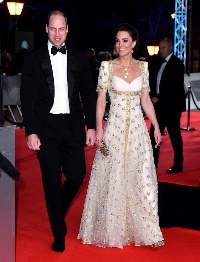 The Duke and Duchess of Cambridge attending the 73rd British Academy Film Awards. [Photo: PA]