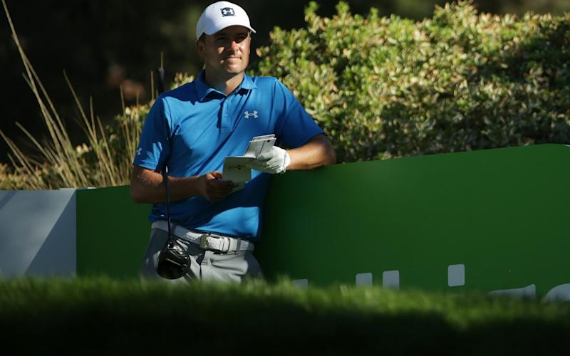 Jordan Spieth analyses his shot - GETTY IMAGES