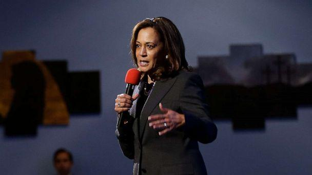 PHOTO: Sen. Kamala Harris speaks at a a town hall meeting in Sacramento, Calif., April 5, 2018. (Rich Pedroncelli/AP, FILE)