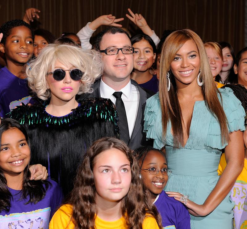 Musician Lady Gaga, Billboard magazine editor and chief Bill Werde and singer Beyonce