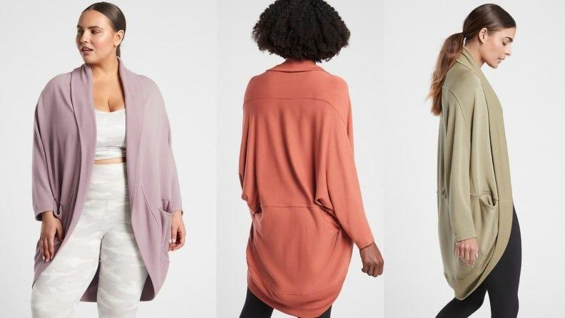 Cool down or warm up post-class with Athleta's coziest cardi.