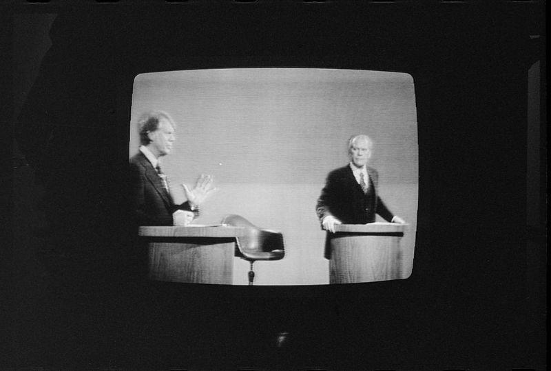FILE PHOTO: President Gerald Ford and Jimmy Carter debate