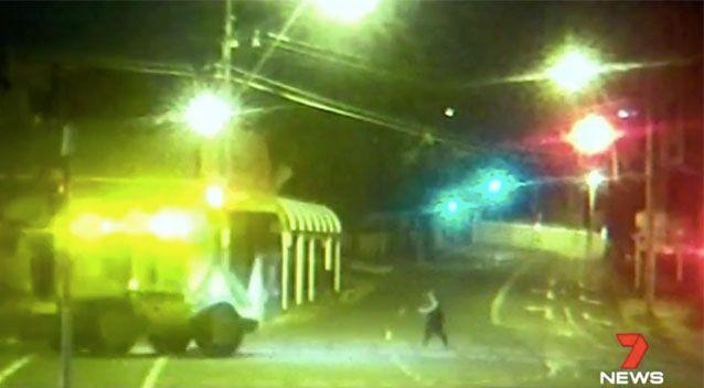 The vehicle failed to stop as Ms Stevenson walked across the road. Source: 7 News