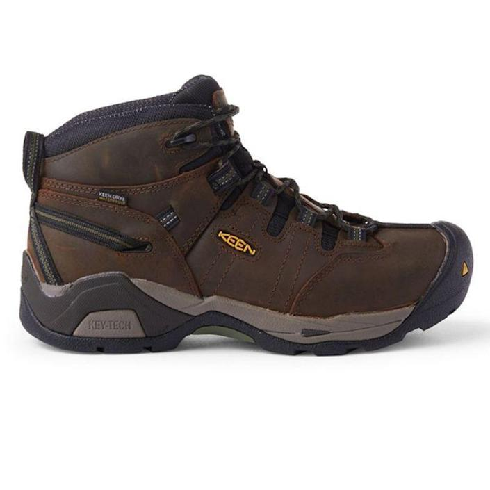 """<p><strong>KEEN Utility</strong></p><p>amazon.com</p><p><strong>149.95</strong></p><p><a href=""""https://www.amazon.com/dp/B078KKRNZB?tag=syn-yahoo-20&ascsubtag=%5Bartid%7C2139.g.19540212%5Bsrc%7Cyahoo-us"""" rel=""""nofollow noopener"""" target=""""_blank"""" data-ylk=""""slk:BUY IT HERE"""" class=""""link rapid-noclick-resp"""">BUY IT HERE</a></p><p>These waterproof work boots are essential for the man who prefers a shorter boot height. They still provide over-the-ankle protection, plus they're steel-toed and feature odor control. </p>"""
