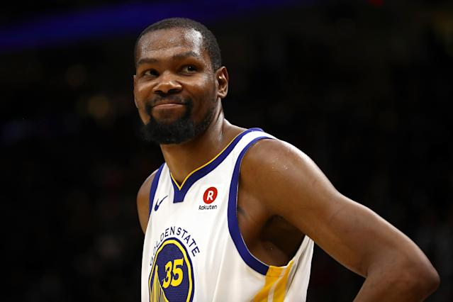 Kevin Durant might be an elite option in standard leagues, but that's not always the case in daily fantasy. (Getty Images)