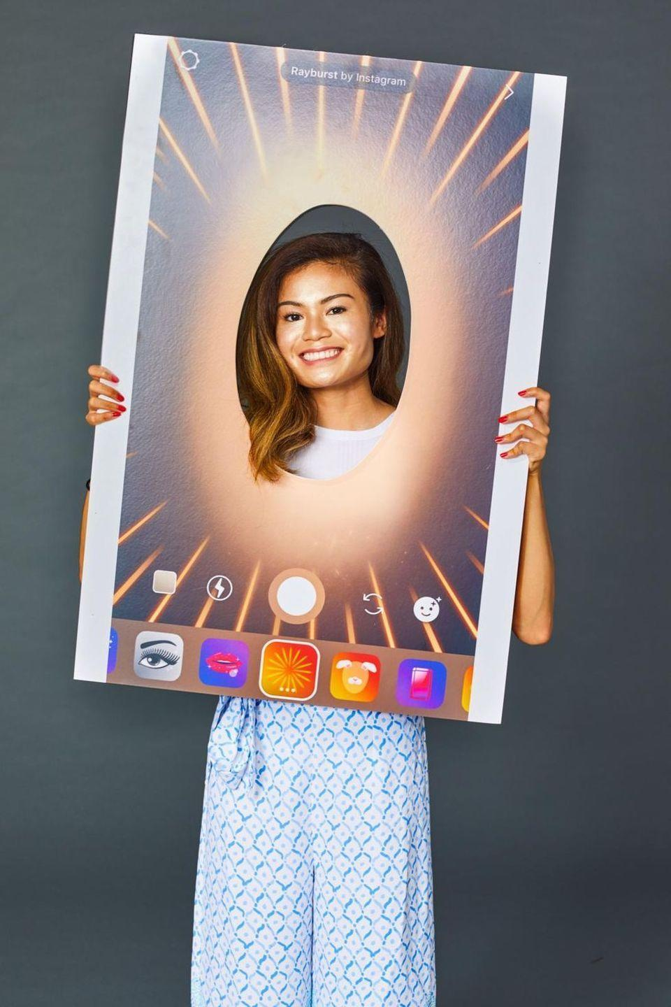 """<p>Everyone's played around with those fun Instagram filters—why not wear one in real life? All you'll have to do to bring this fun costume to life is screenshot your Instagram app, then enlarge the photo at your local office supply store. </p><p><strong>Get the tutorial at <a href=""""https://www.goodhousekeeping.com/holidays/halloween-ideas/g23549593/meme-costumes/"""" rel=""""nofollow noopener"""" target=""""_blank"""" data-ylk=""""slk:Good Housekeeping"""" class=""""link rapid-noclick-resp"""">Good Housekeeping</a>.</strong></p><p><a class=""""link rapid-noclick-resp"""" href=""""https://www.amazon.com/Beauty-Champagne-Rose-Luminizer-Women/dp/B07BM2XWL5/?tag=syn-yahoo-20&ascsubtag=%5Bartid%7C10050.g.22118522%5Bsrc%7Cyahoo-us"""" rel=""""nofollow noopener"""" target=""""_blank"""" data-ylk=""""slk:SHOP HIGHLIGHTER"""">SHOP HIGHLIGHTER</a></p>"""