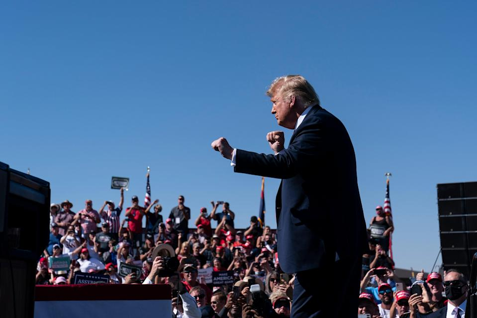 Election 2020 Trump The Dance (Copyright 2020 The Associated Press. All rights reserved.)