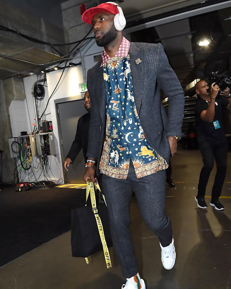 Sure, the Lakers lost, but LeBron's incredible shirt won him the #BigFitoftheDay.