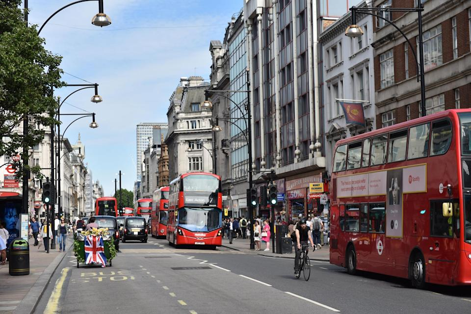<p>Non-essential retailers had to close shops, including on Oxford Street, for the second lockdown</p> (Getty Images)