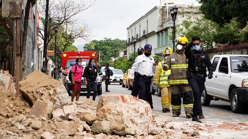 At least six people have been killed by a powerful earthquake that struck in southern Mexico