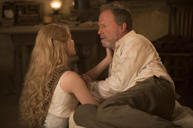 "Dolores (Evan Rachel Wood) reunites with her father Peter (Louis Herthum) in ""Westworld,"" (Photo: HBO)"