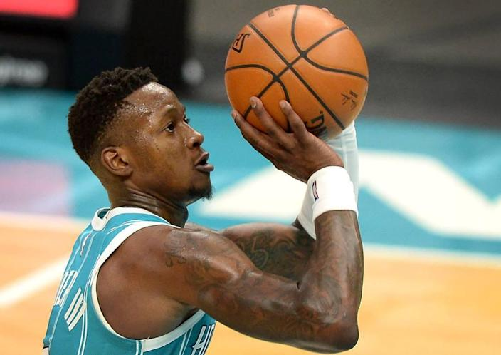 Charlotte Hornets guard Terry Rozier led the team in points (20.4 per game) this season and had nine games in which he scored at least 30.
