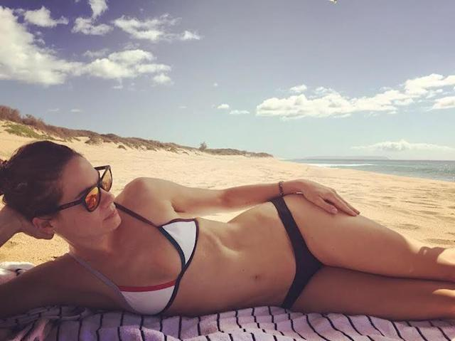 "<p>""Sun, sand, and sea #yesplease,"" wrote the actres as she kicked back on a remote-lookig beach and took advantage of National Bikini Day. (Photo: <a href=""https://www.instagram.com/p/BWLZdB7FKcC/?taken-by=realmonaghan"" rel=""nofollow noopener"" target=""_blank"" data-ylk=""slk:Michelle Monaghan via Instagram"" class=""link rapid-noclick-resp"">Michelle Monaghan via Instagram</a>) </p>"