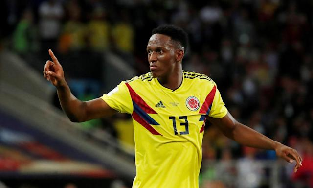 Yerry Mina, here in the World Cup with Colombia, has not made his Everton debut yet.