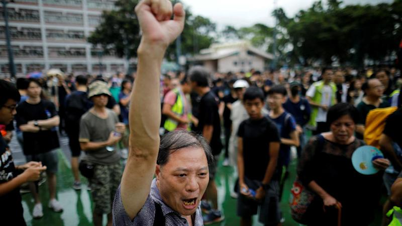 Hong Kong teachers join students to launch fresh weekend of protests