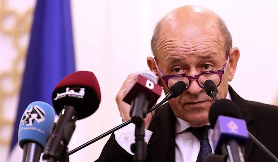 """French Foreign Minister Jean-Yves Le Drian said Australia's cancellation of a submarine contract with France was a """"stab in the back"""". Photo: AFP"""