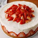 """<p>Classic <a href=""""https://www.delish.com/uk/cooking/recipes/g30239150/cheesecake-recipes/"""" rel=""""nofollow noopener"""" target=""""_blank"""" data-ylk=""""slk:cheesecake"""" class=""""link rapid-noclick-resp"""">cheesecake</a> gets a summery upgrade.</p><p>Get the <a href=""""https://www.delish.com/uk/cooking/recipes/a32027888/strawberry-shortcake-cheesecake-dessert-recipe/"""" rel=""""nofollow noopener"""" target=""""_blank"""" data-ylk=""""slk:Strawberry Shortcake Cheesecake"""" class=""""link rapid-noclick-resp"""">Strawberry Shortcake Cheesecake</a> recipe.</p>"""