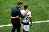 Tottenham's Lucas Moura prepares to enter the pitch (Photo by OSCAR DEL POZO / AFP)