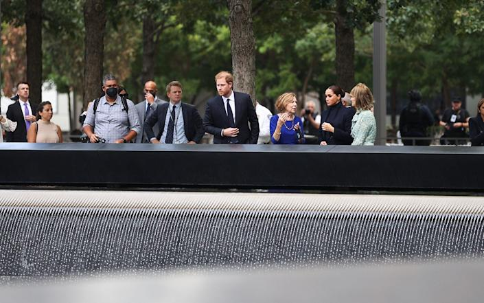 The Duke and Duchess of Sussex visit the 9/11 Memorial Museum in New York City - Anadolu