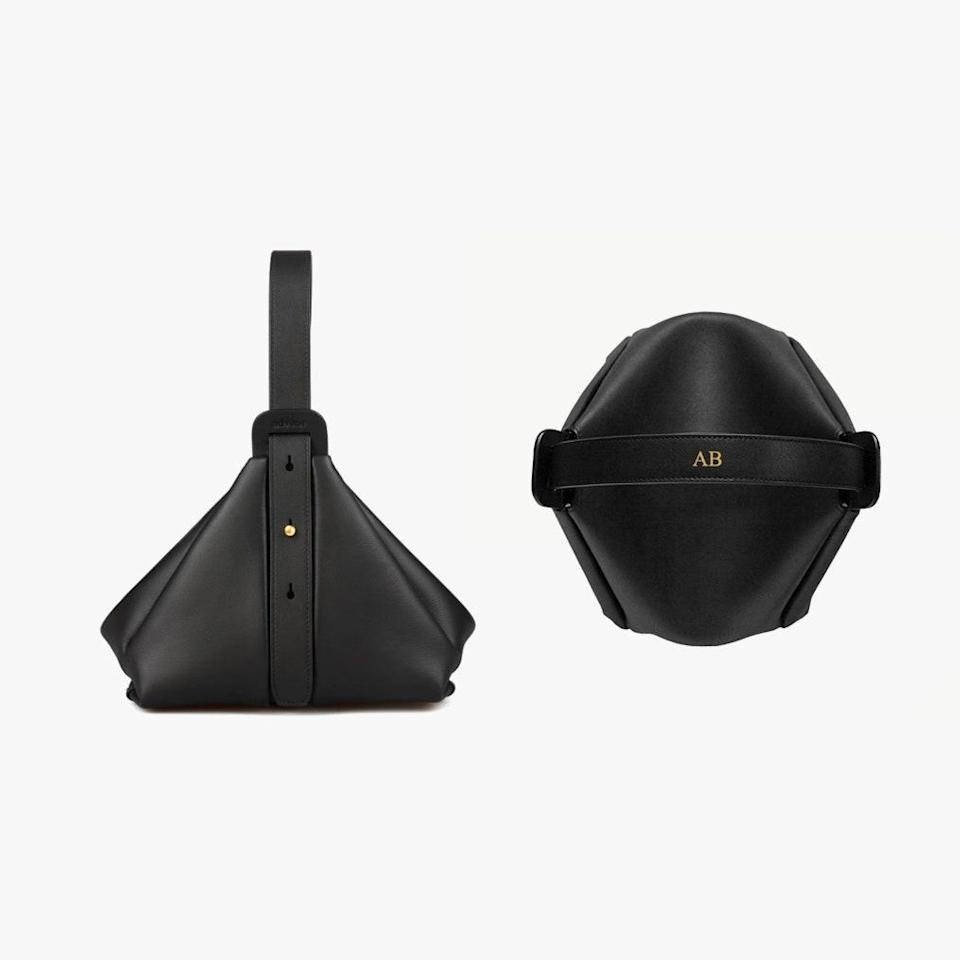 "$495, ADVENE. <a href=""https://advenedesign.com/products/the-age-bag-black"" rel=""nofollow noopener"" target=""_blank"" data-ylk=""slk:Get it now!"" class=""link rapid-noclick-resp"">Get it now!</a>"